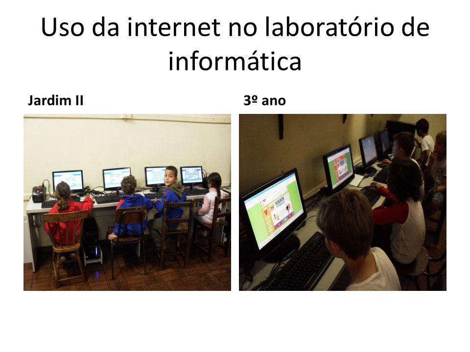Uso da internet no laboratório de informática Jardim II3º ano