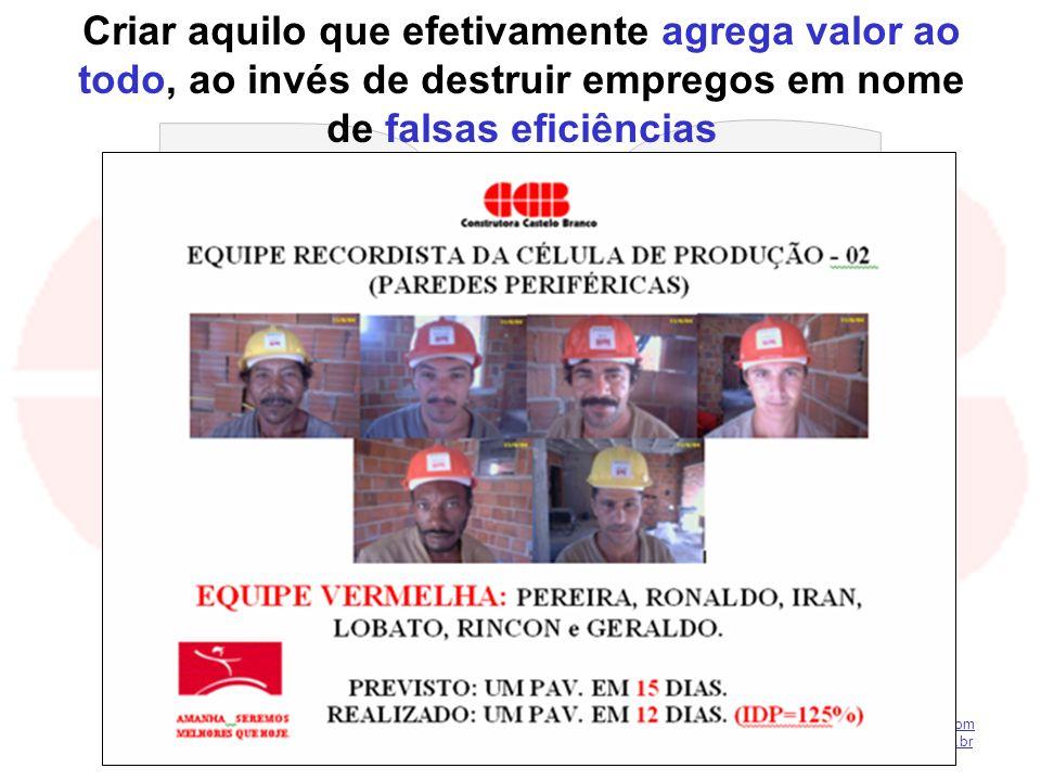kilsonnascimento@hotmail.com macedoferraz@superig.com.br Criar aquilo que efetivamente agrega valor ao todo, ao invés de destruir empregos em nome de