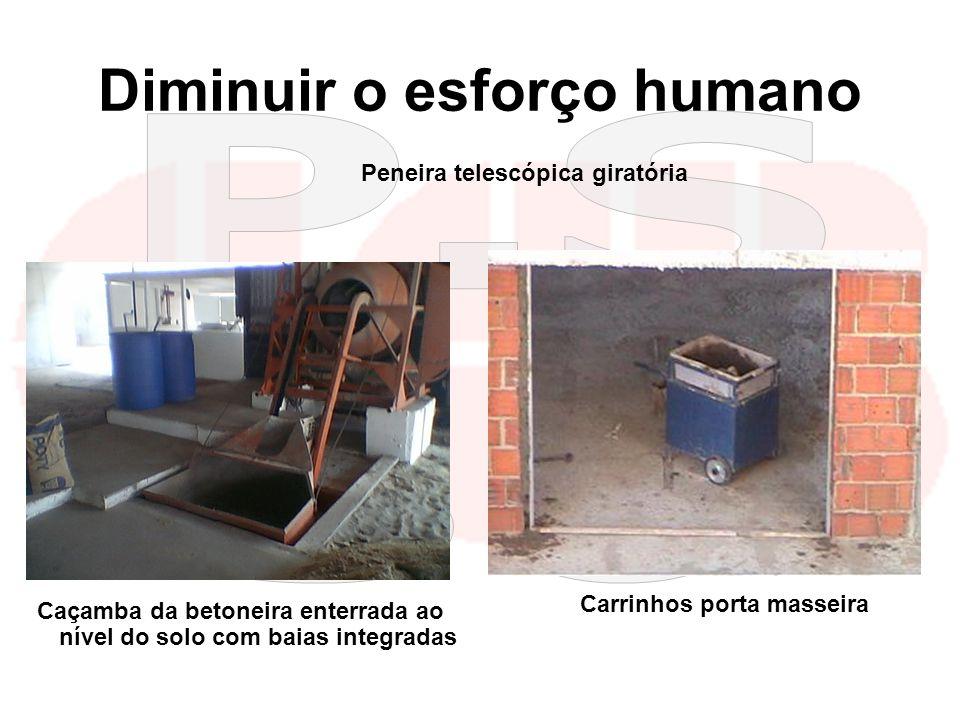 kilsonnascimento@hotmail.com macedoferraz@superig.com.br Diminuir o esforço humano Peneira telescópica giratória Caçamba da betoneira enterrada ao nív