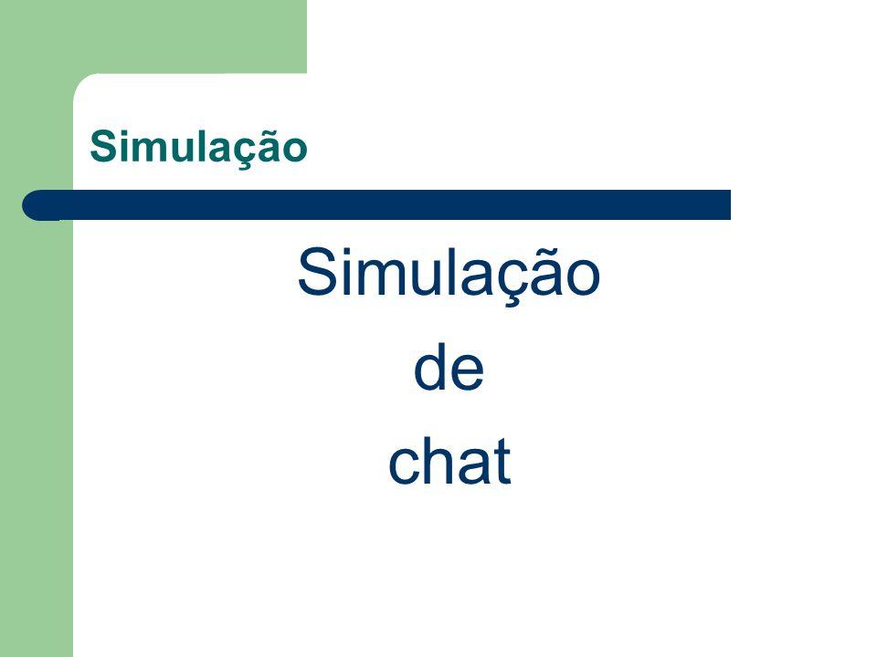 Simulação de chat