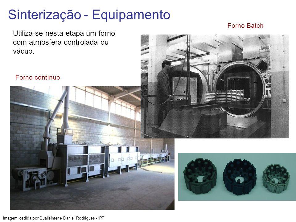 Sinterização - Equipamento Utiliza-se nesta etapa um forno com atmosfera controlada ou vácuo. Imagem cedida por Qualisinter e Daniel Rodrigues - IPT F