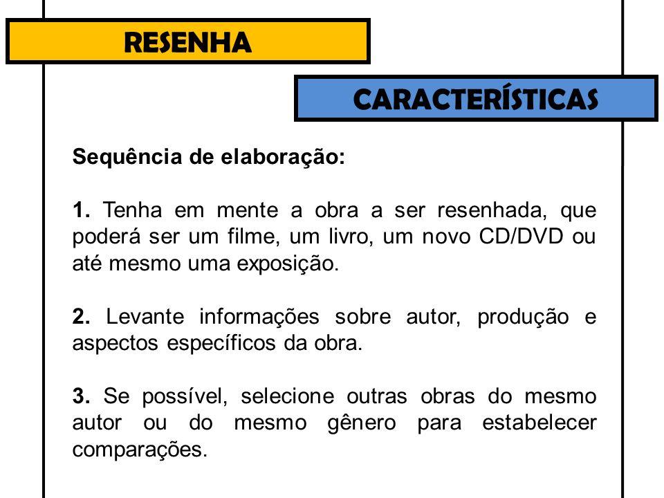 RESENHA CARACTERÍSTICAS 4.