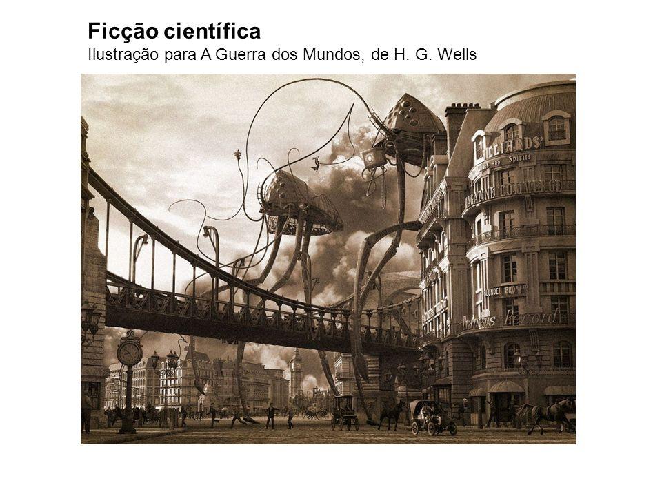 Ficção científica Ilustração para A Guerra dos Mundos, de H. G. Wells