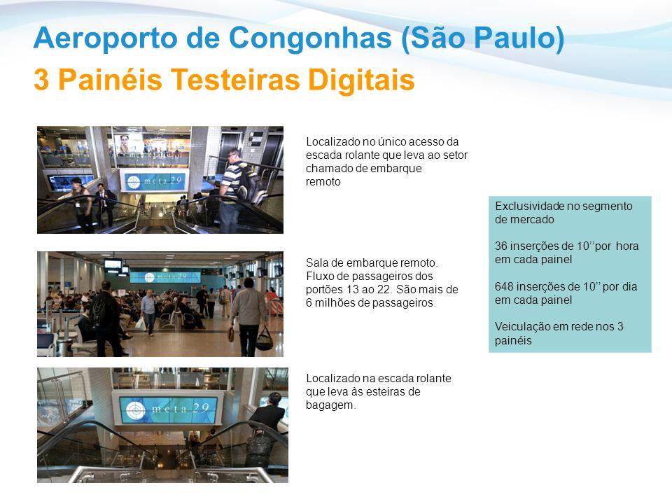 Aeroporto de Congonhas (São Paulo) Localizado no único acesso da escada rolante que leva ao setor chamado de embarque remoto Sala de embarque remoto.