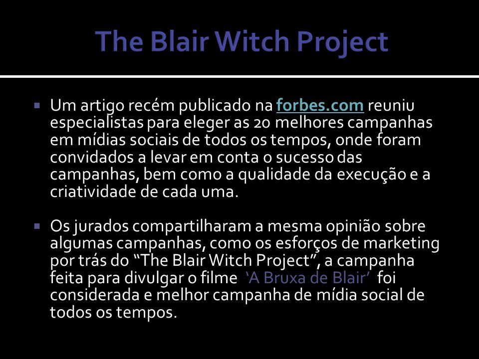 Três estudantes de cinema embrenham-se nas matas do estado de Maryland para fazer um documentário sobre a lenda da bruxa de Blair e desaparecem misteriosamente.
