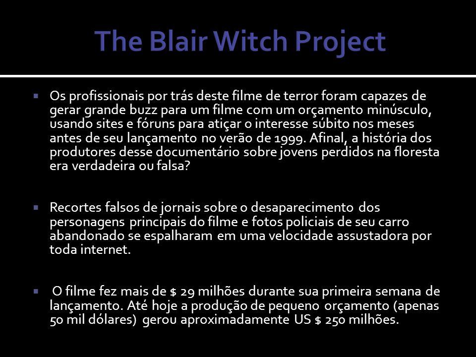 Como estratégia de marketing, os diretores criaram e emitiram um documentário falso sobre a lenda da bruxa de Blair em um canal de TV americano.