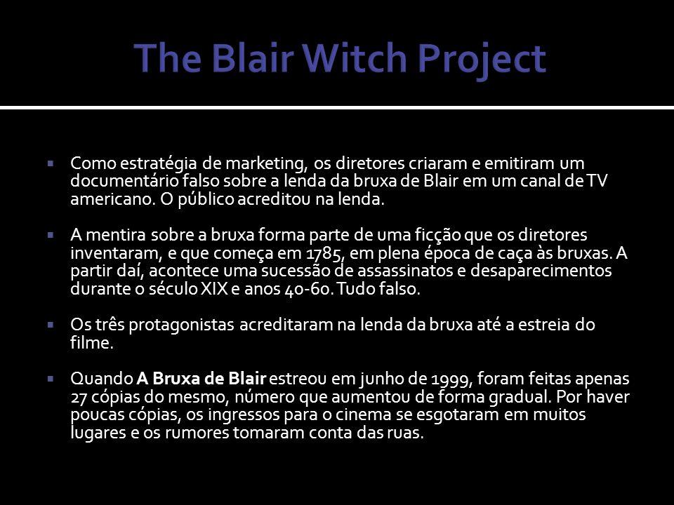 Para promover A Bruxa de Blair, foi dito que se tratava de um documentário real e com imagens encontradas pela polícia.