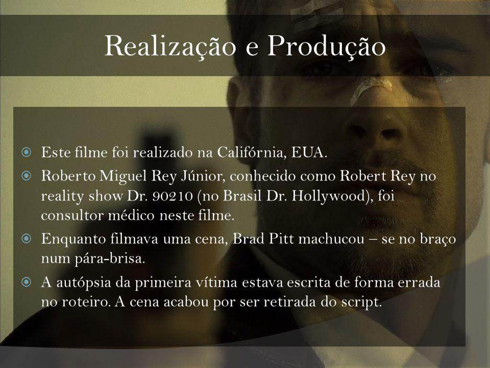 Realização e Produção Este filme foi realizado na Califórnia, EUA. Roberto Miguel Rey Júnior, conhecido como Robert Rey no reality show Dr. 90210 (no