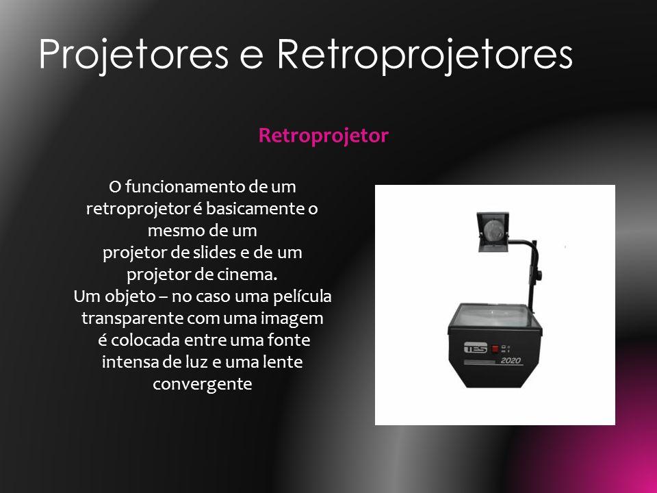 O funcionamento de um retroprojetor é basicamente o mesmo de um projetor de slides e de um projetor de cinema. Um objeto – no caso uma película transp