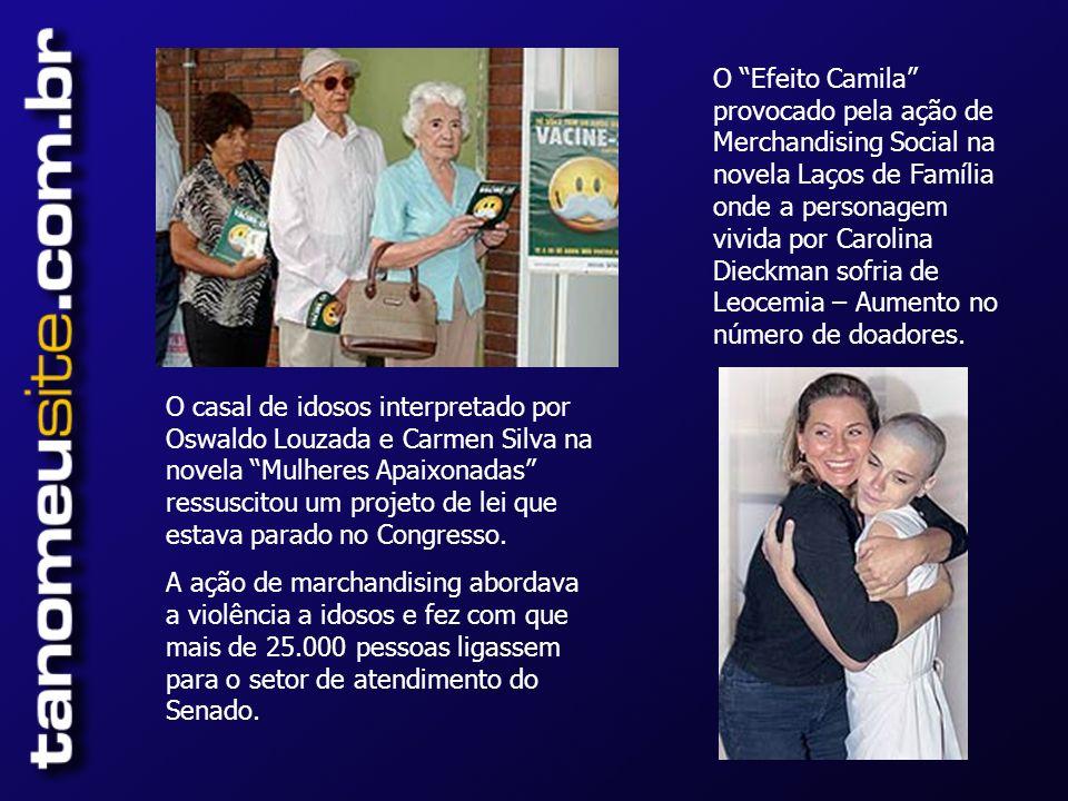 O casal de idosos interpretado por Oswaldo Louzada e Carmen Silva na novela Mulheres Apaixonadas ressuscitou um projeto de lei que estava parado no Congresso.