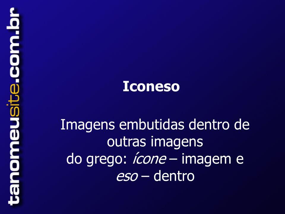 Iconeso Imagens embutidas dentro de outras imagens do grego: ícone – imagem e eso – dentro