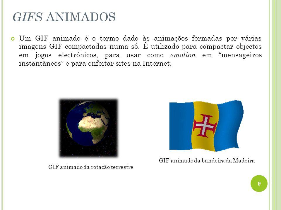 Um GIF animado é o termo dado às animações formadas por várias imagens GIF compactadas numa só. É utilizado para compactar objectos em jogos electróni