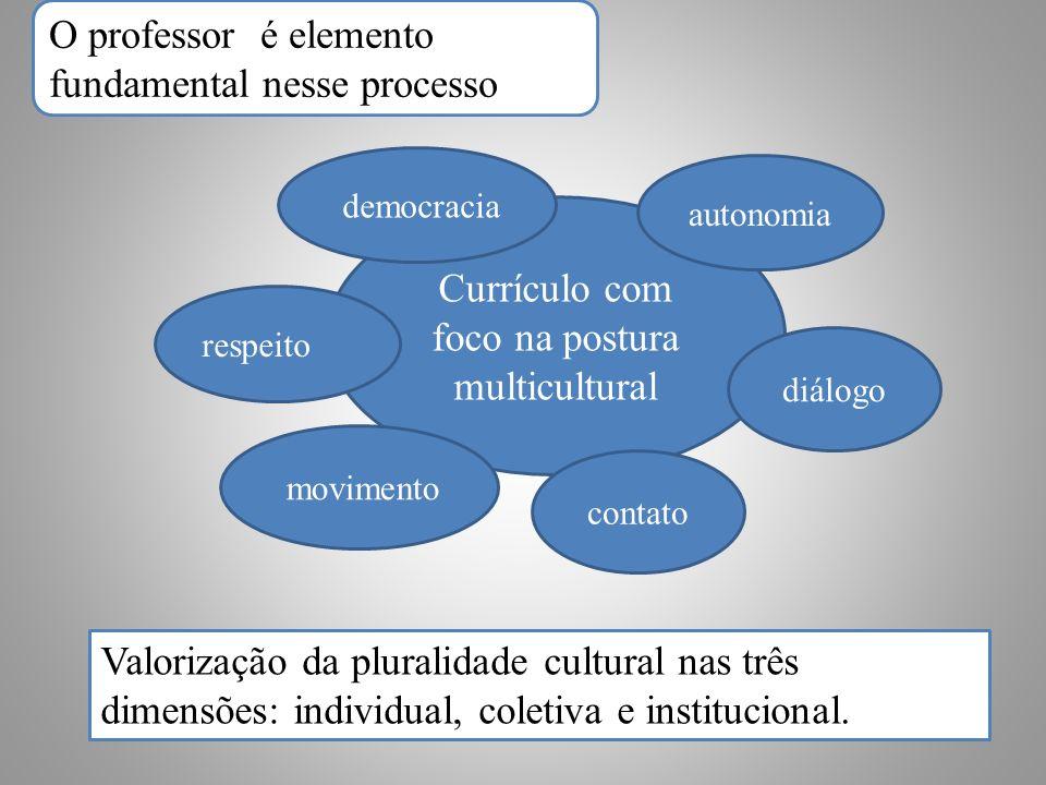 Valorização da pluralidade cultural nas três dimensões: individual, coletiva e institucional.