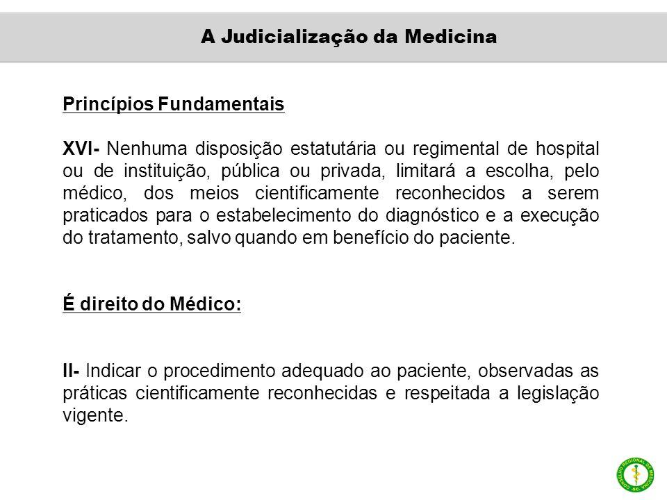 Princípios Fundamentais XVI- Nenhuma disposição estatutária ou regimental de hospital ou de instituição, pública ou privada, limitará a escolha, pelo