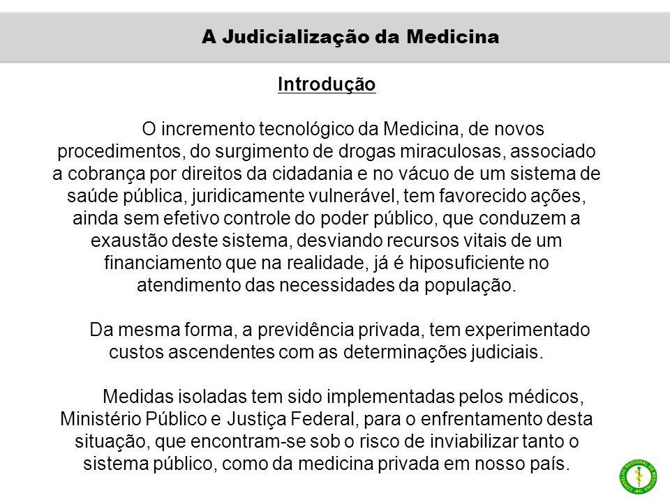 Introdução O incremento tecnológico da Medicina, de novos procedimentos, do surgimento de drogas miraculosas, associado a cobrança por direitos da cid