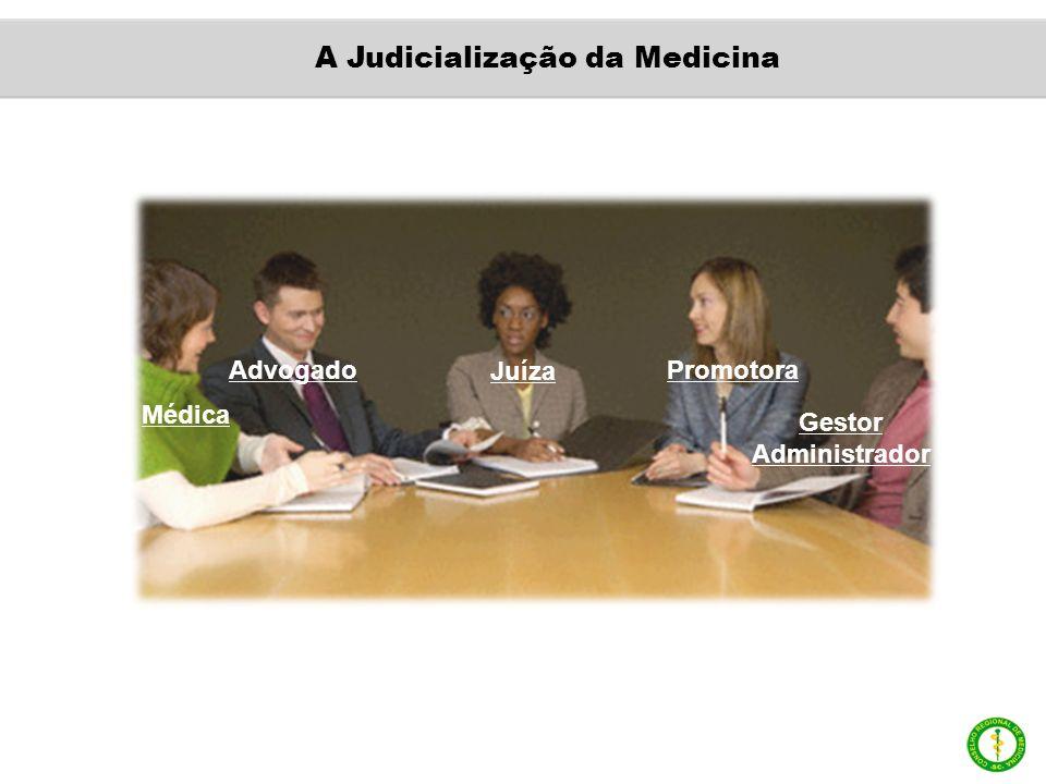 Médica Advogado Juíza Promotora Gestor Administrador A Judicialização da Medicina