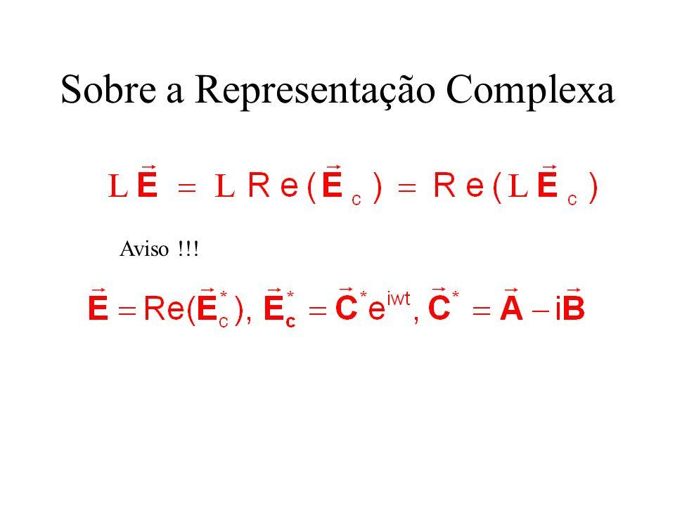 Sobre a Representação Complexa Aviso !!!
