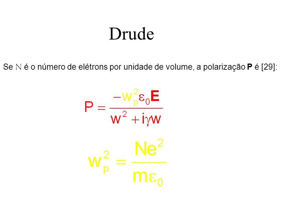 Drude Se N é o número de elétrons por unidade de volume, a polarização P é [29]: