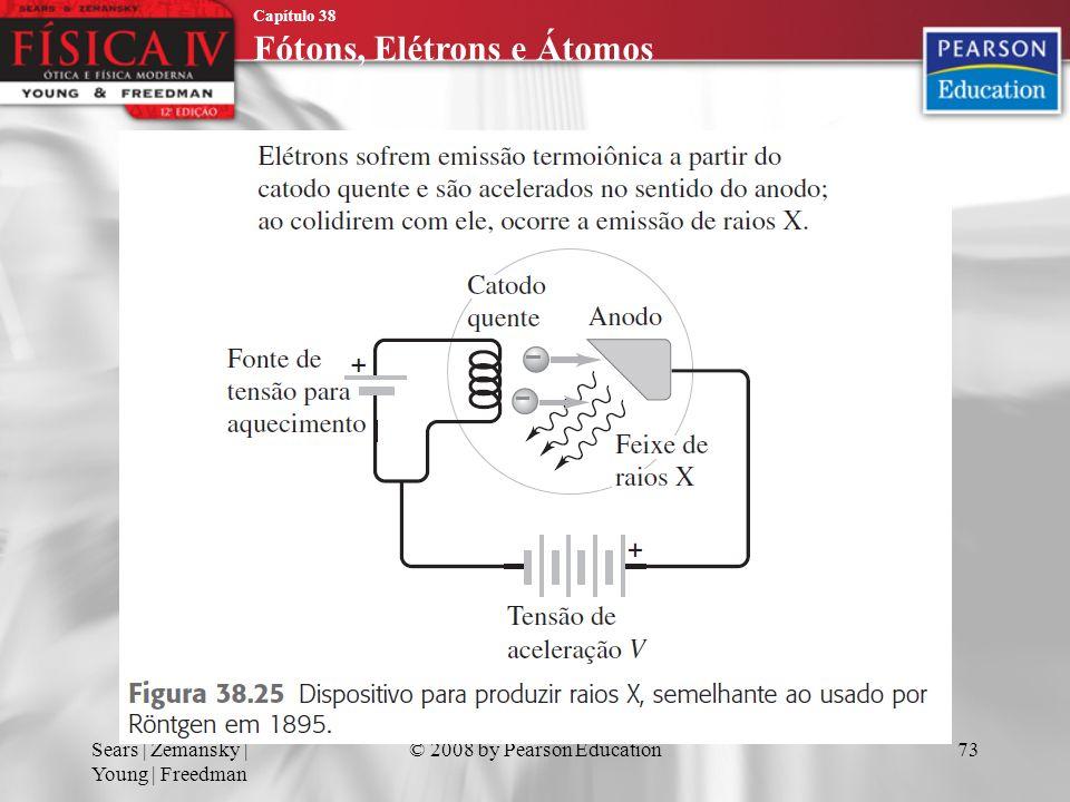 Capítulo 38 Fótons, Elétrons e Átomos Sears | Zemansky | Young | Freedman © 2008 by Pearson Education73