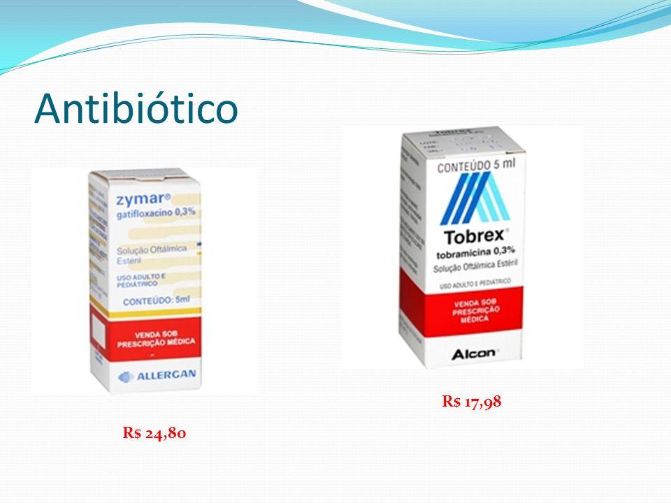 Antibiótico R$ 24,80 R$ 17,98