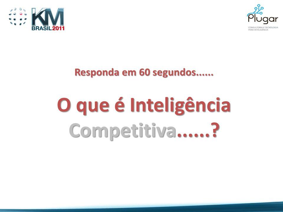 Responda em 60 segundos...... O que é Inteligência Competitiva......?