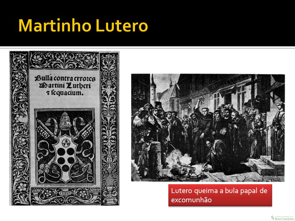 Lutero queima a bula papal de excomunhão