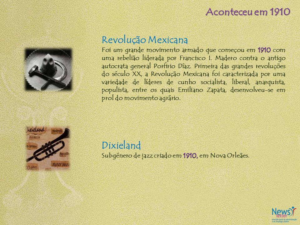 Revolução Mexicana 1910 Foi um grande movimento armado que começou em 1910 com uma rebelião liderada por Francisco I. Madero contra o antigo autocrata