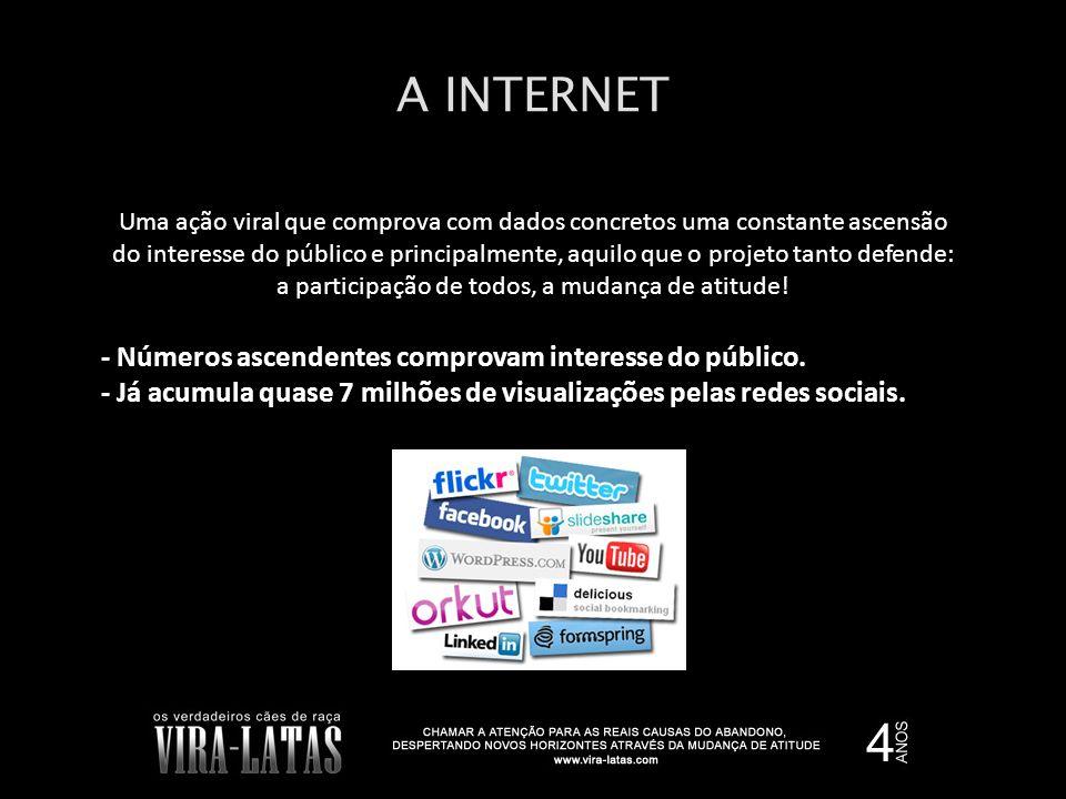 A INTERNET Uma ação viral que comprova com dados concretos uma constante ascensão do interesse do público e principalmente, aquilo que o projeto tanto