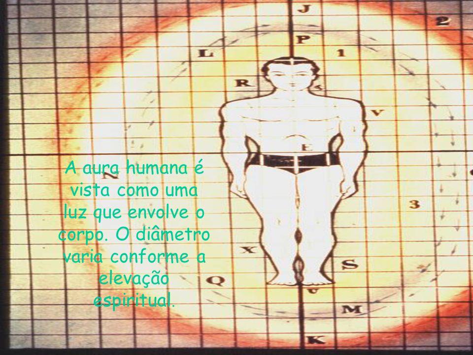 A aura humana é vista como uma luz que envolve o corpo.