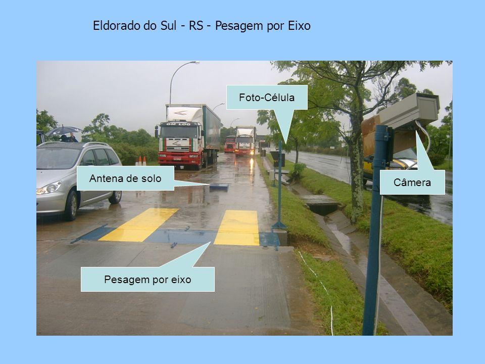 Eldorado do Sul - RS - Pesagem por Eixo Foto-Célula Câmera Antena de solo Pesagem por eixo