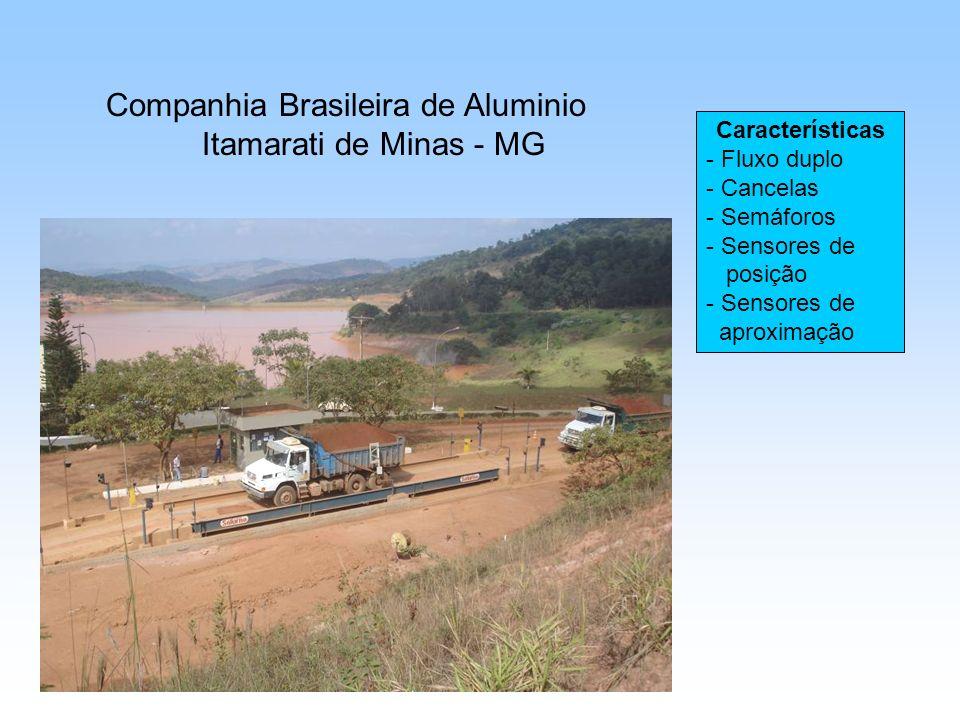 Companhia Brasileira de Aluminio Itamarati de Minas - MG Características - Fluxo duplo - Cancelas - Semáforos - Sensores de posição - Sensores de aproximação