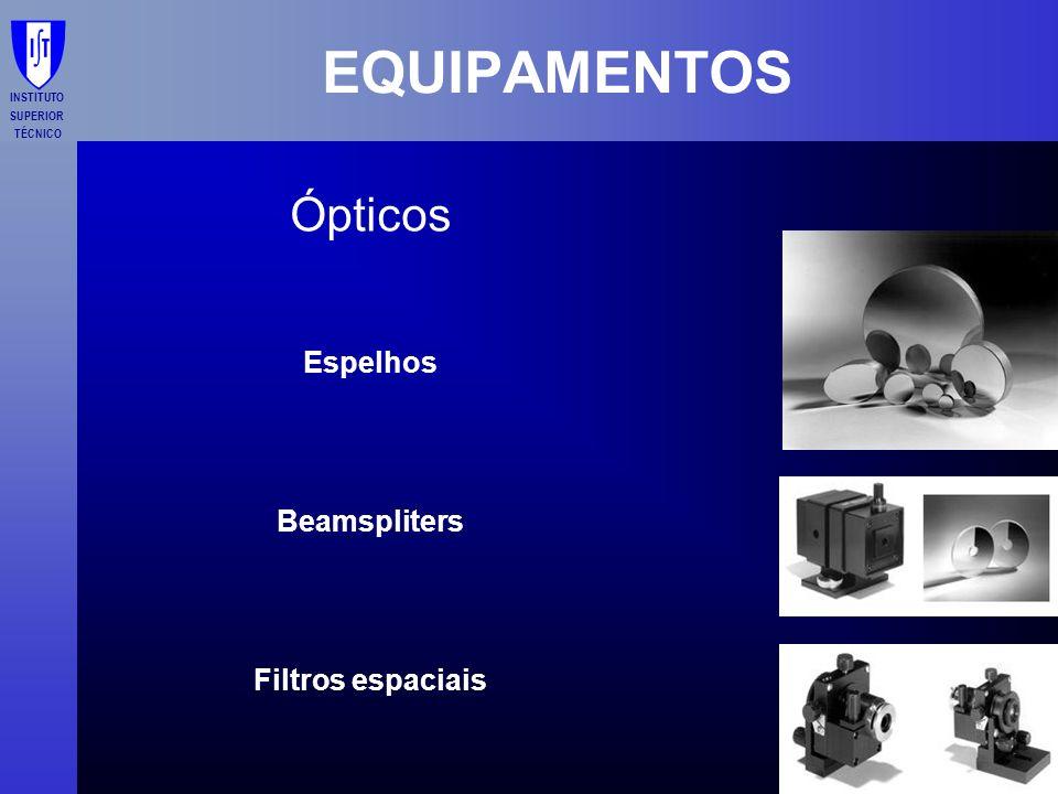 INSTITUTO SUPERIOR TÉCNICO EQUIPAMENTOS Ópticos Espelhos Beamspliters Filtros espaciais