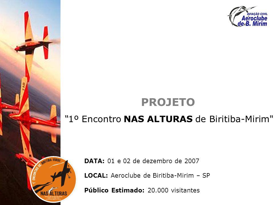 OBJETIVO DO EVENTO Trazer todos os setores da aviação e cumprindo função mercadológica.