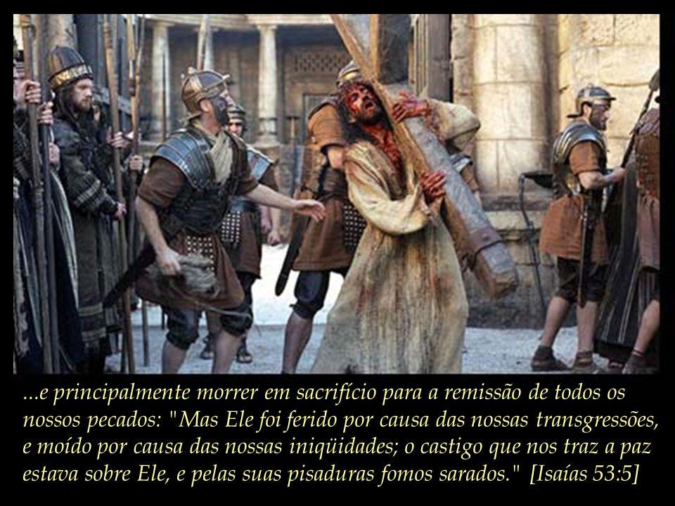 ... Diante da degradação do homem, Deus em sua infinita bondade e misericórdia, manda seu único Filho para nos ensinar o verdadeiro AMOR...