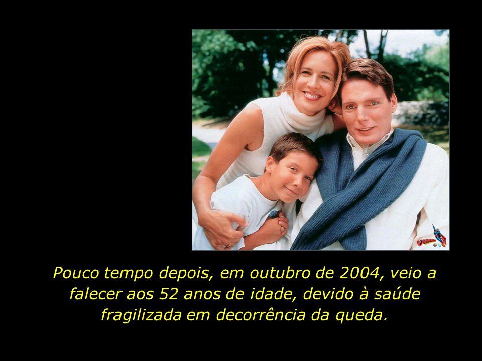 Em maio de 1995 o ator Christopher Reeve sofreu uma queda enquanto andava a cavalo. O acidente o deixou tetraplégico.