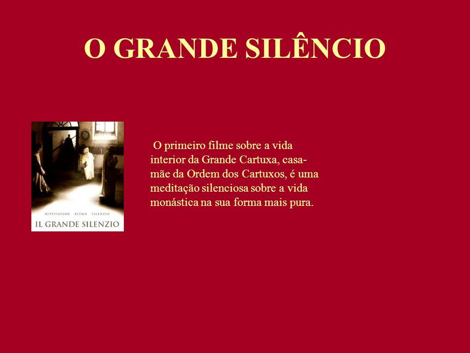 O primeiro filme sobre a vida interior da Grande Cartuxa, casa- mãe da Ordem dos Cartuxos, é uma meditação silenciosa sobre a vida monástica na sua fo