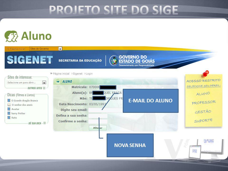 E-MAIL DO ALUNO NOVA SENHA Aluno