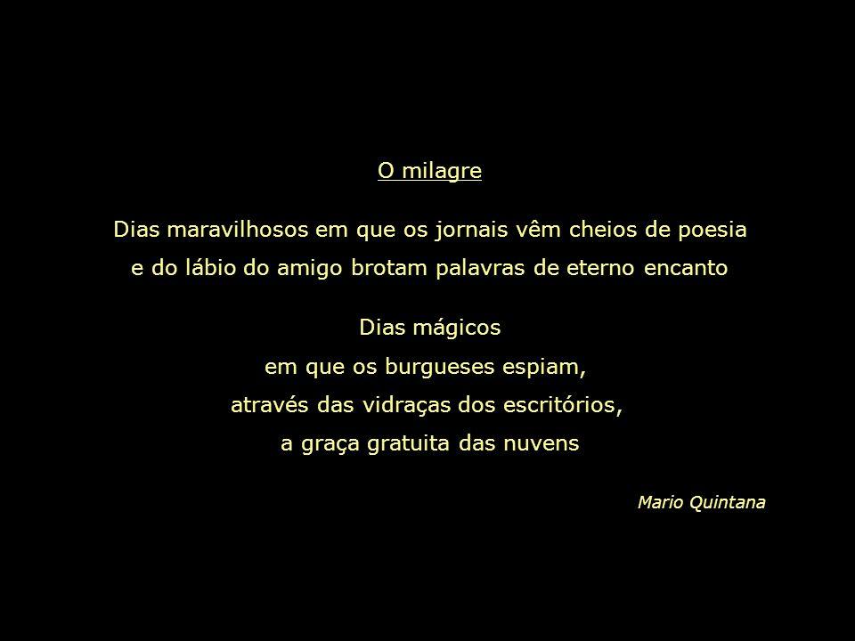 Se alguém te perguntar o que quiseste dizer com um poema, pergunta-lhe o que Deus quis dizer com este mundo... Mario Quintana