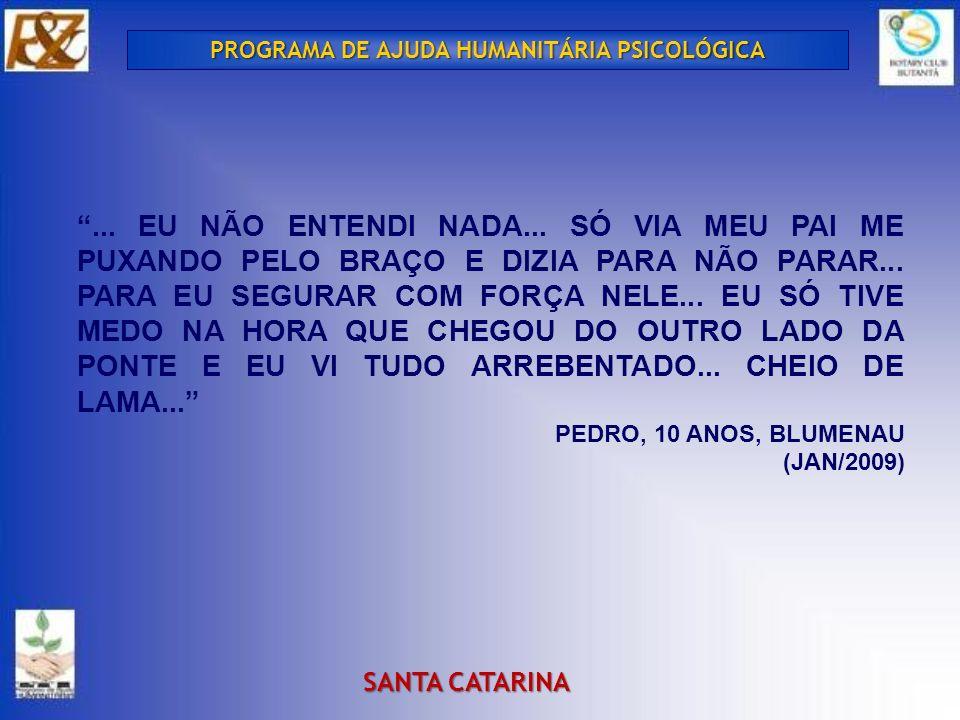 PROGRAMA DE AJUDA HUMANITÁRIA PSICOLÓGICA SANTA CATARINA...