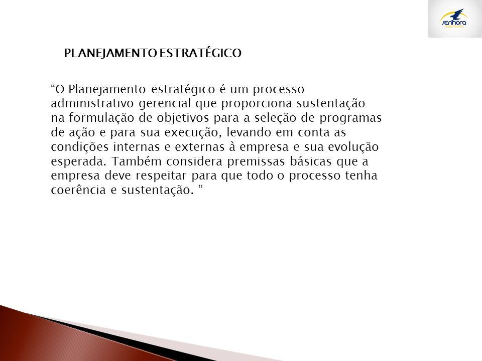 O Planejamento estratégico é um processo administrativo gerencial que proporciona sustentação na formulação de objetivos para a seleção de programas d