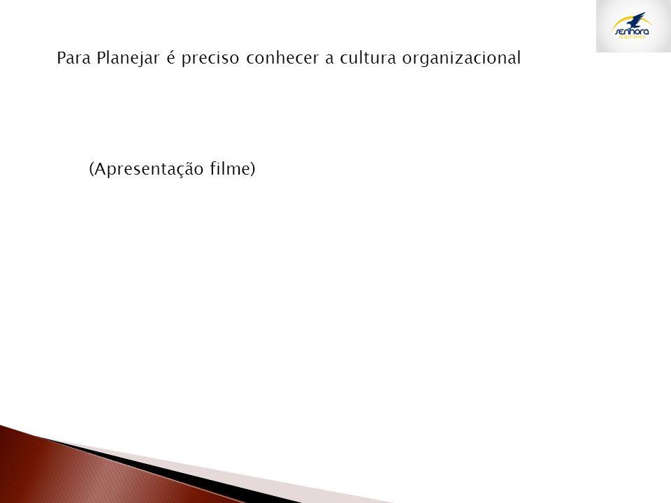 Para Planejar é preciso conhecer a cultura organizacional (Apresentação filme)