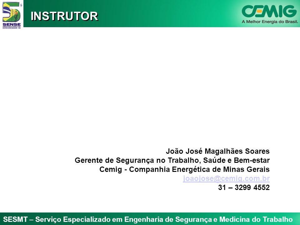 SESMT – Serviço Especializado em Engenharia de Segurança e Medicina do Trabalho João José Magalhães Soares Gerente de Segurança no Trabalho, Saúde e B