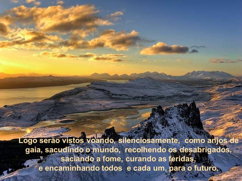 sites e blogs, ou comunidades nas montanhas, em todos os continentes, além de ciências e tecnologias mágicas, tudo no meio de atos de bondade plantado