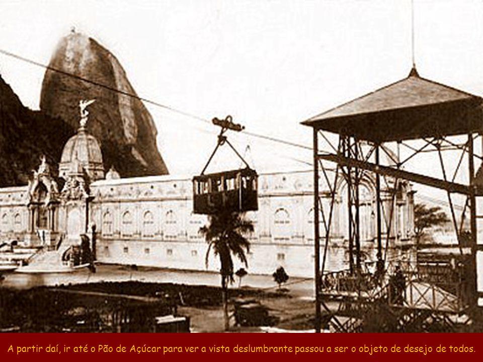 O trecho Morro da Urca–Pão de Açúcar foi inaugurado em 18/Jan/1913, 18 anos antes do Corcovado. @ E.A.Mortiner