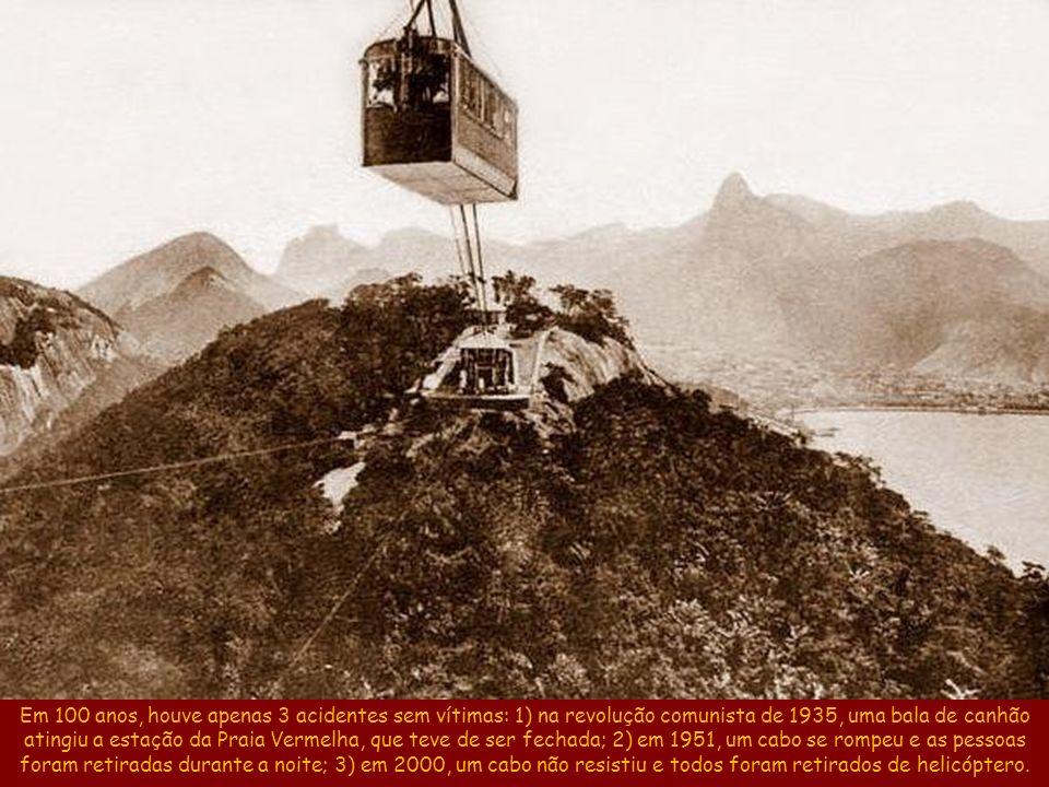 Desde 1912, o bondinho já transportou mais de 31 milhões de turistas. Bondinho nos anos 60