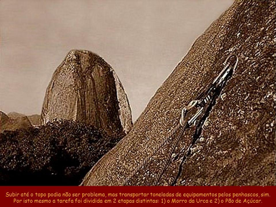 A escalada original foi pela Via do Costão, na parte de trás do Pão de Açúcar Estação do Pão de Açúcar Estação do Morro da Urca Praia Vermelha Pista C