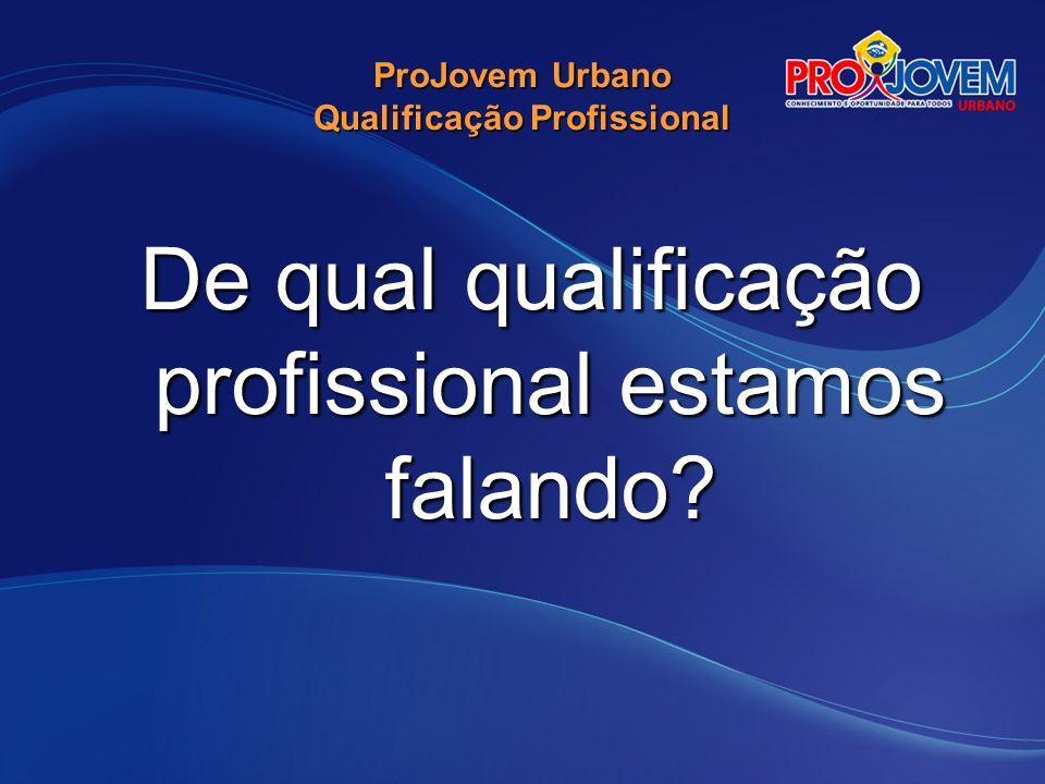Qualificação Profissional Um direito !