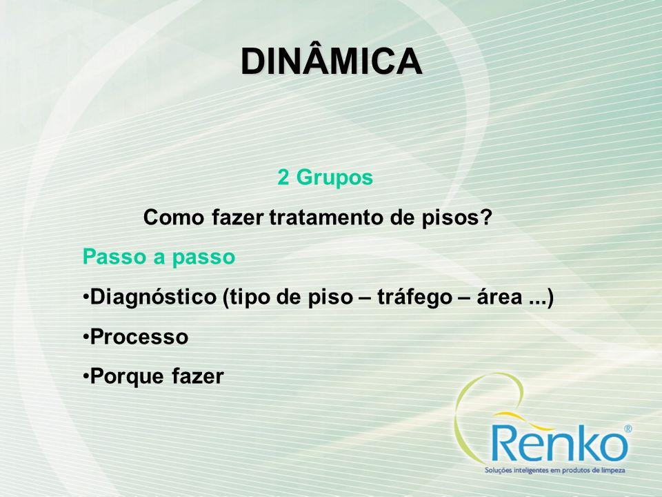 DINÂMICA 2 Grupos Como fazer tratamento de pisos.
