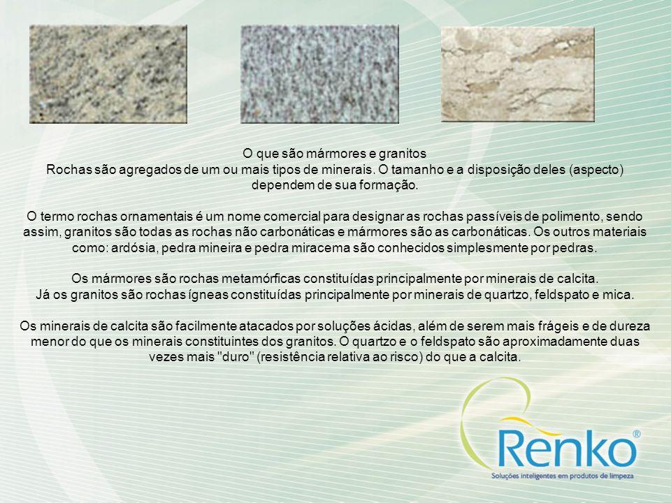 O que são mármores e granitos Rochas são agregados de um ou mais tipos de minerais. O tamanho e a disposição deles (aspecto) dependem de sua formação.