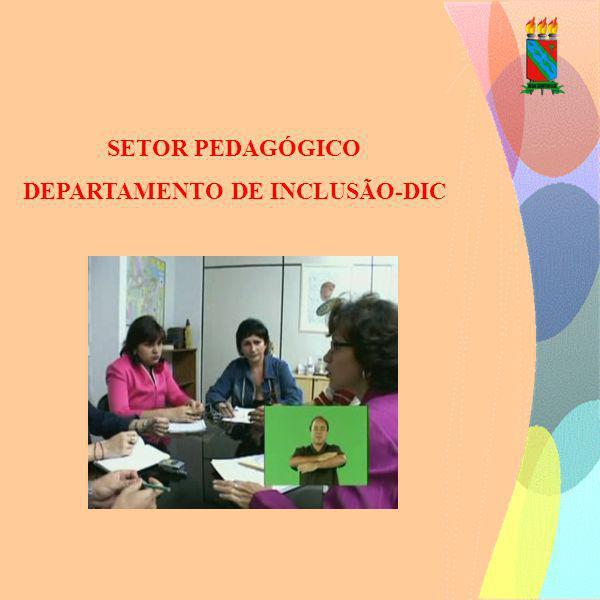 SETOR PEDAGÓGICO DEPARTAMENTO DE INCLUSÃO-DIC